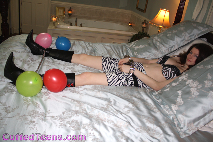 Serenity's blindfolded balloon escape