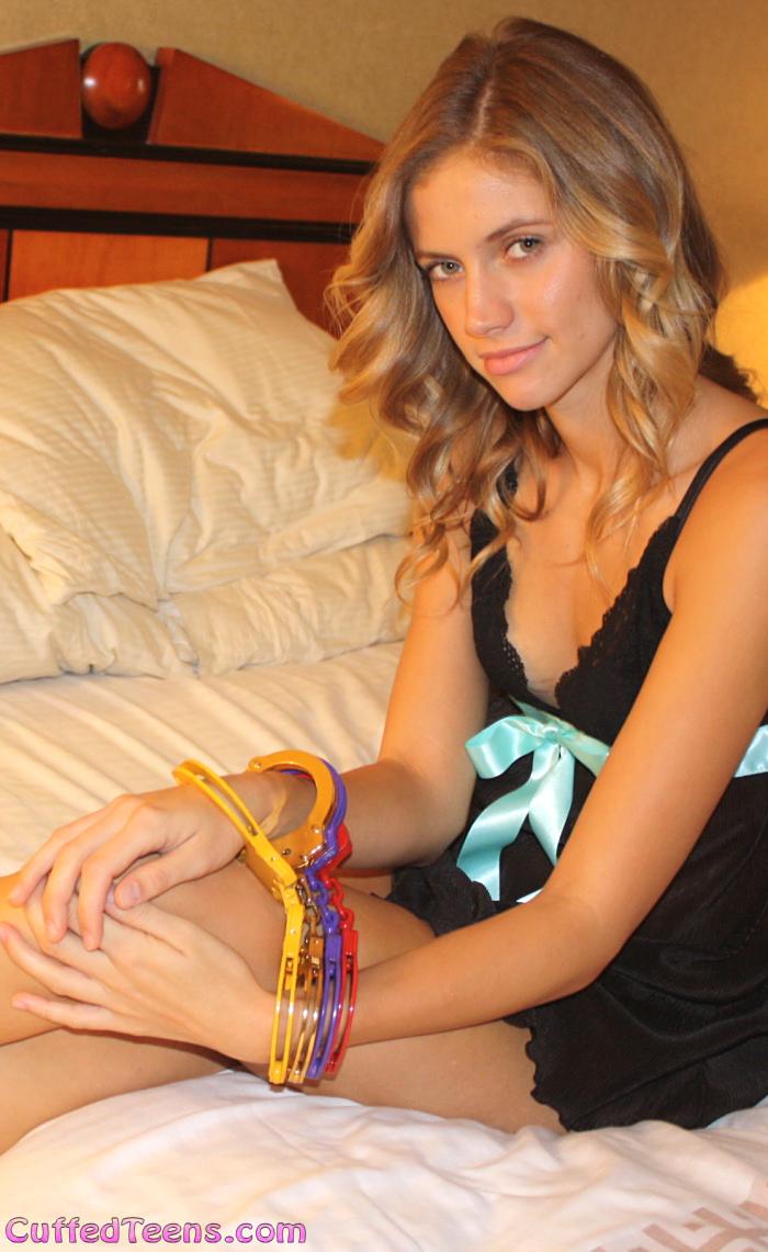 Princess in colored cuffs